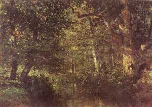 Constant Troyon - Watercourse in the woods