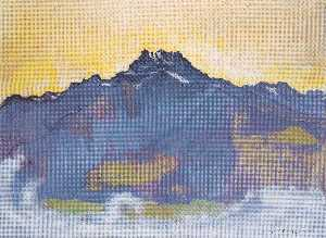 Ferdinand Hodler - The Dents du Midi from Ch..