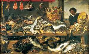 Frans Snyders - The Fish Market
