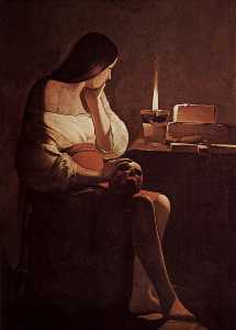 Georges De La Tour - Mary Magdalene with a nig..