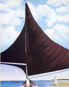 Georgia Totto O'Keeffe - Brown Sail, Wing on Wing,..