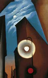 Georgia Totto O'Keeffe - New York with Moon