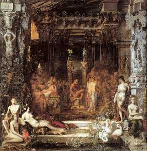 Gustave Moreau - The Daughters of Thespius