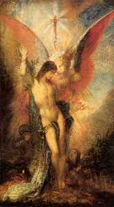 Gustave Moreau - St. Sebastian and the Ang..