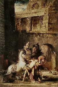Gustave Moreau - Diomedes Being Eaten by h..