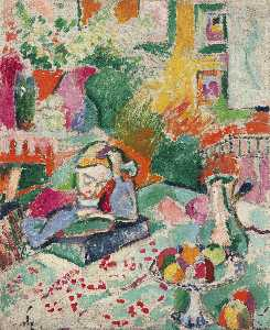 Henri Matisse - Interior with a Girl Read..