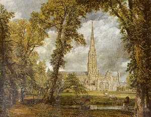 John Constable - View of Salisbury Cathedr..
