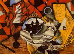 Juan Gris - Pears and grapes on a tab..