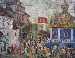 Konstantin Yuon - Stage design for Mussorgs..