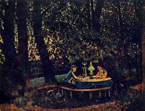Konstantin Yuon - The August Evening. Ligac..