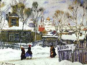 Konstantin Yuon - The View of Troitse-Sergi..