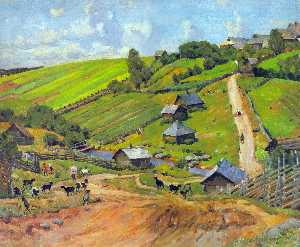 Konstantin Yuon - The Village of Novgorod G..