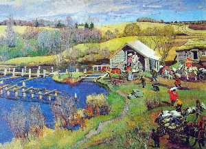 Konstantin Yuon - The Mill. October. Ligach..