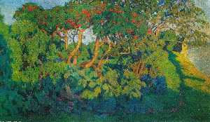 Konstantin Yuon - Elderberry bush. Decorati..