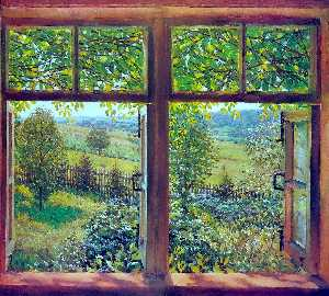 Konstantin Yuon - Open Window. Ligachevo