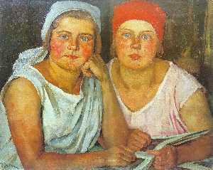 Konstantin Yuon - The Komsomol Girls