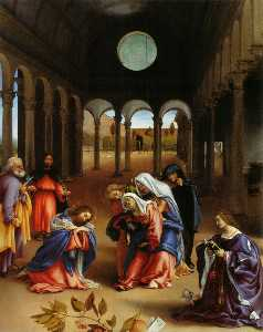 Lorenzo Lotto - Christ's farewell to Mary