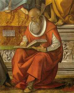 Luca Signorelli - St. Jerome (detail from V..