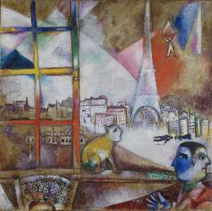 Marc Chagall - Paris through the Window