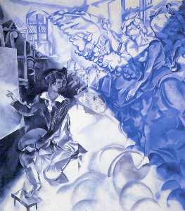 Marc Chagall - Self Portrait with Muse (..