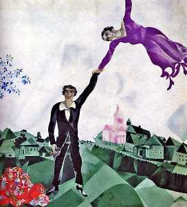 Marc Chagall - The Promenade