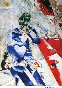 Marc Chagall - The Poet, or Half Past Th..