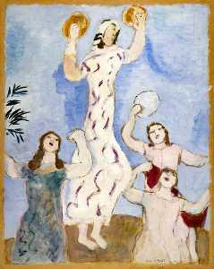 Marc Chagall - Miriam dances