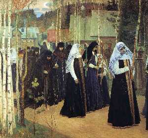 Mikhail Nesterov - The Taking of the Veil