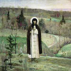 Mikhail Nesterov - Venerable Sergius of Rado..