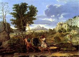 Nicolas Poussin - Autumn (The Spies with th..