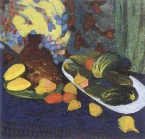 Oleksandr Bogomazov (Alex.. - Still life with fruits an..