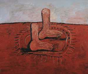 Philip Guston - Two fat feet