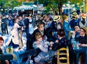 Pierre-Auguste Renoir - Dance at Moulin de la Gal..