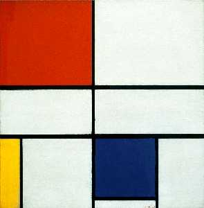 Piet Mondrian - Composition C (No.III) wi..