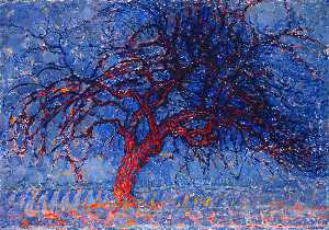 Piet Mondrian - Avond (Evening): The Red ..