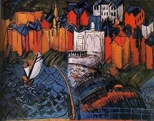 Raoul Dufy - Sailboat at Sainte-Adress..