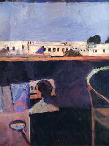 Richard Diebenkorn - Interior with View of Bui..
