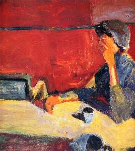 Richard Diebenkorn - Woman at Table in Strong ..