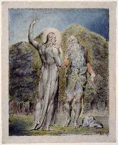 William Blake - Christ Tempted by Satan t..