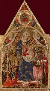 Biagio D'antonio Da Firen.. - Madonna and Child with Sa..