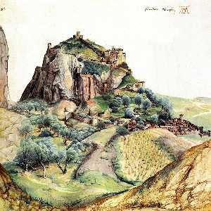 Albrecht Durer - View of the Arco Valley in the..