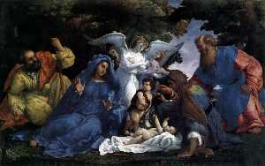 Lorenzo Lotto - Holy Family with Angels