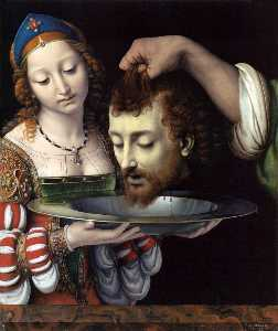 Andrea Solario - Salome with the Head of S..