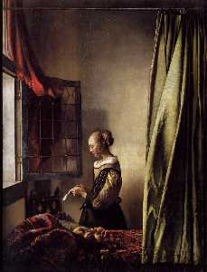 Jan Vermeer - Girl Reading a Letter at ..