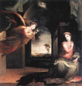 Domenico Di Pace Beccafum.. - The Annunciation