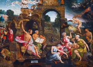 Jacob Cornelisz Van Oosts.. - Saul and the Witch of End..