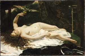 Gustave Courbet - Woman with a Parrot