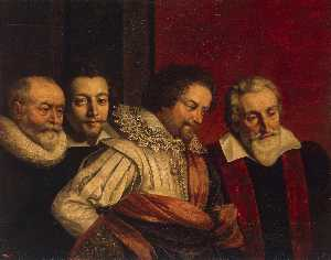 Frans The Younger Pourbus - Portrait of Four Members ..