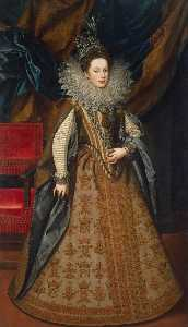 Frans The Younger Pourbus - Portrait of Margaret of S..