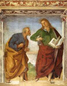 Luca Signorelli - The Apostles Peter and Jo..